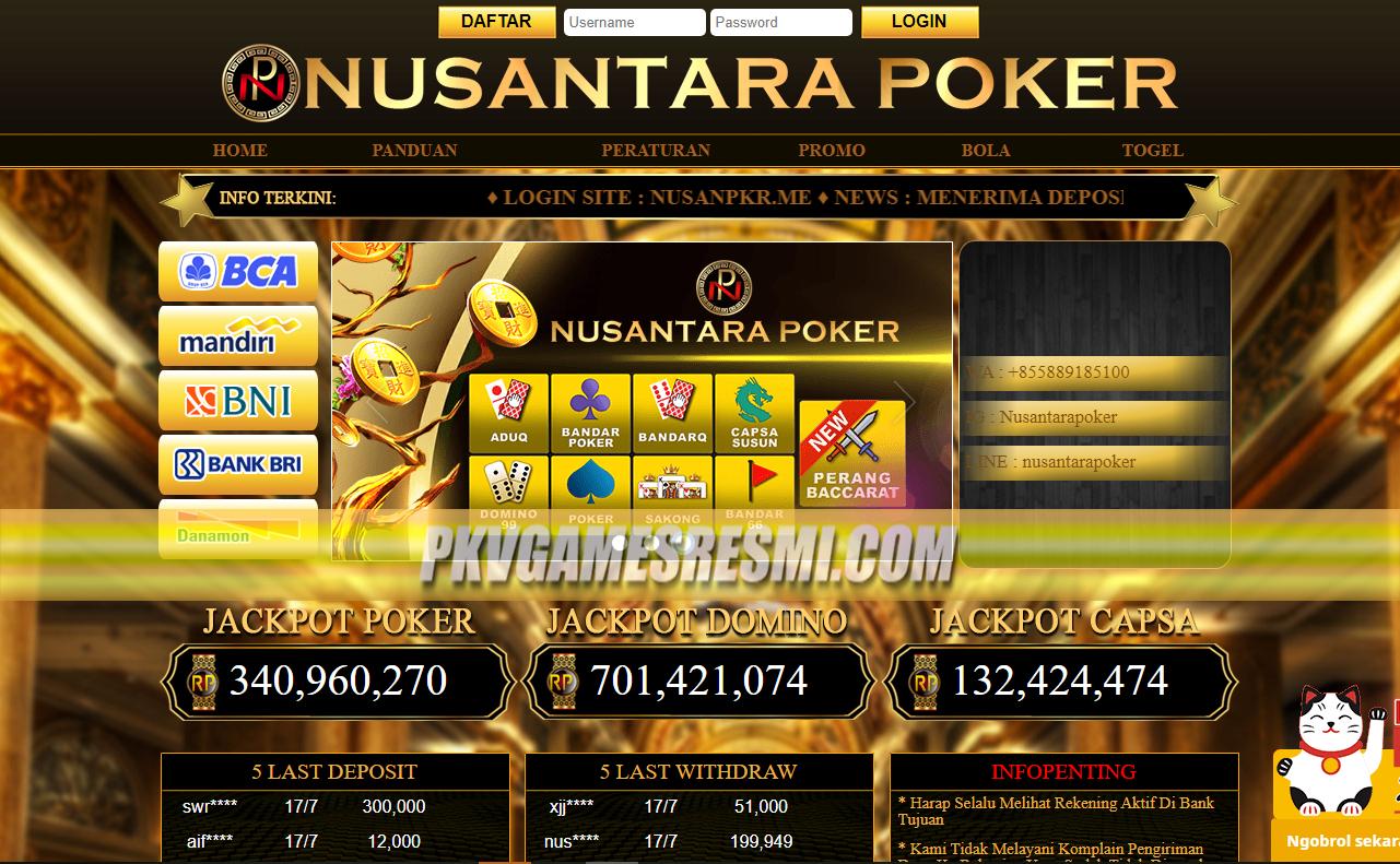NUSANTARAPOKER | SITUS POKER | PKV GAMES | QQ ONLINE